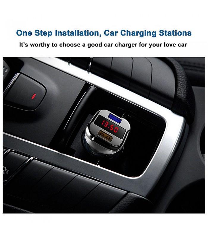 Волтметър за кола с 2бр. USB изхода за зареждане - 8
