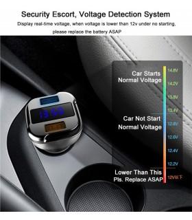 Волтметър за кола с 2бр. USB изхода за зареждане - 2