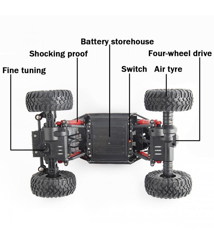 Детска количка-джип с дистанционно управление 4х4 - 7