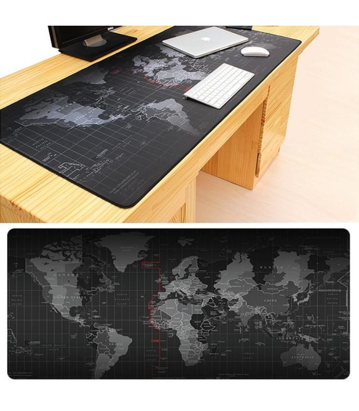 Голяма подложка за бюро/мишка Карта на света - 1