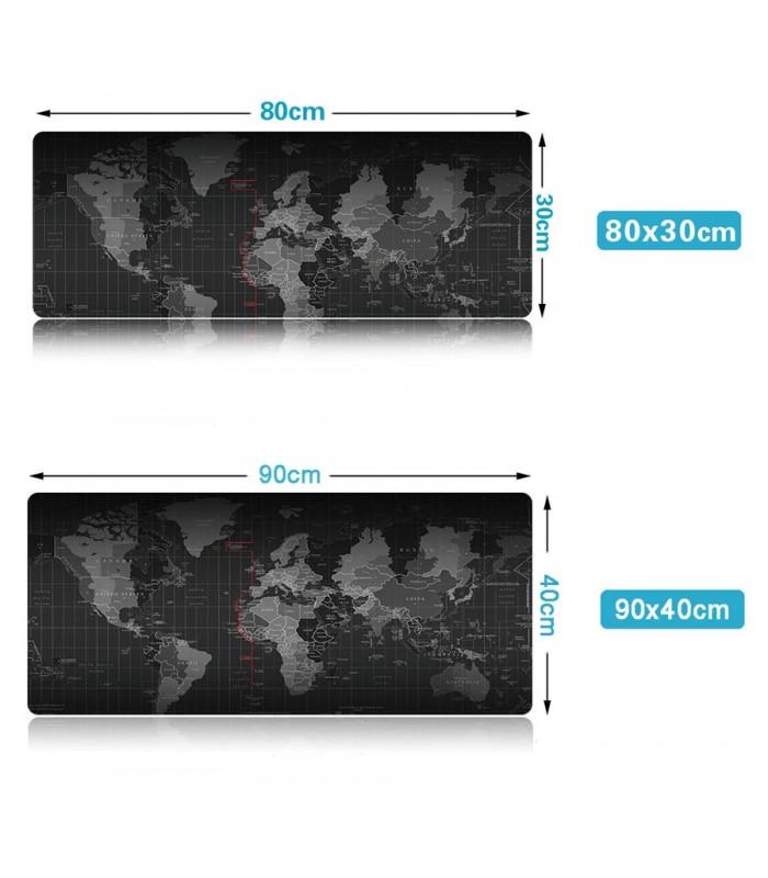 Голяма подложка за бюро/мишка Карта на света - 3