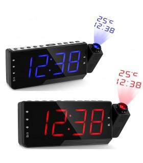 Настолен радио-будилник с проекция на часа и температурата