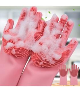 Ръкавици с четка за миене на съдове
