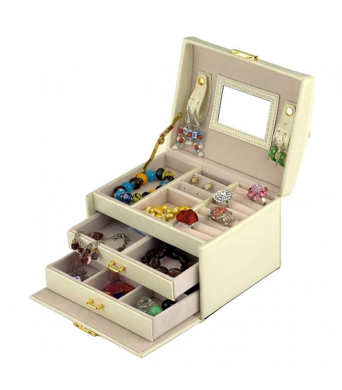 Кутия за бижута тип куфар - код 1756 - 1