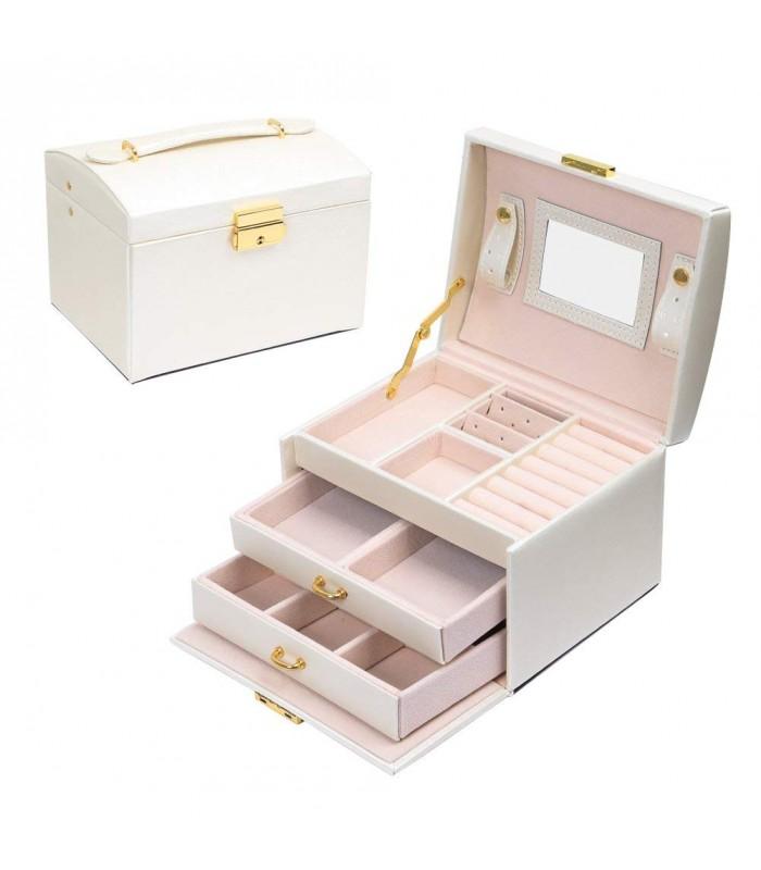 Кутия за бижута тип куфар - код 1756 - 2