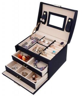 Кутия за бижута тип куфар - код 1756 - 3