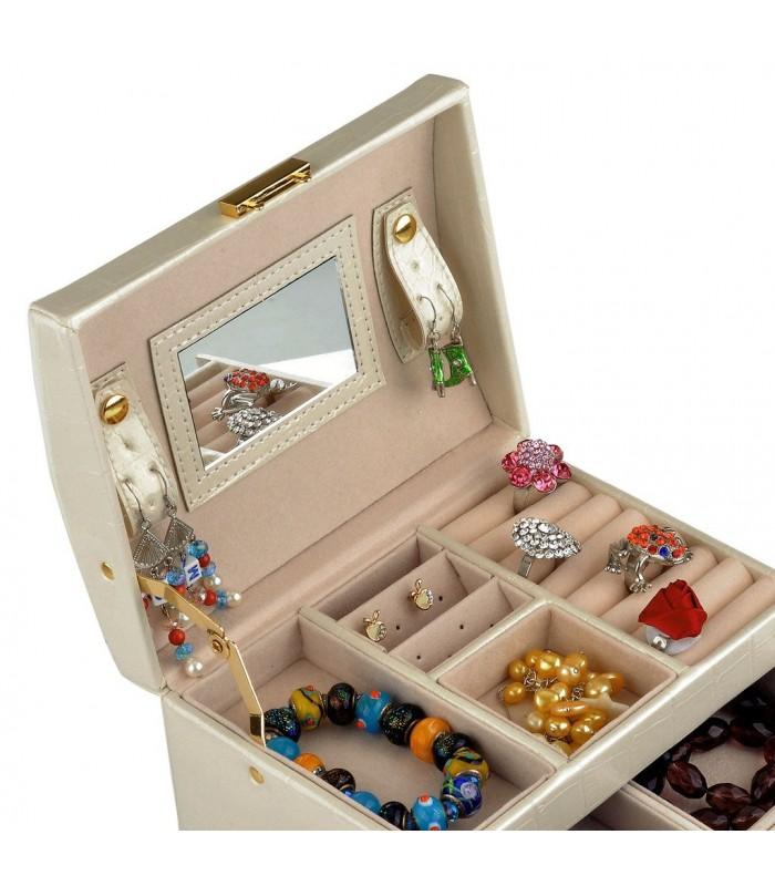 Кутия за бижута тип куфар - код 1756 - 6