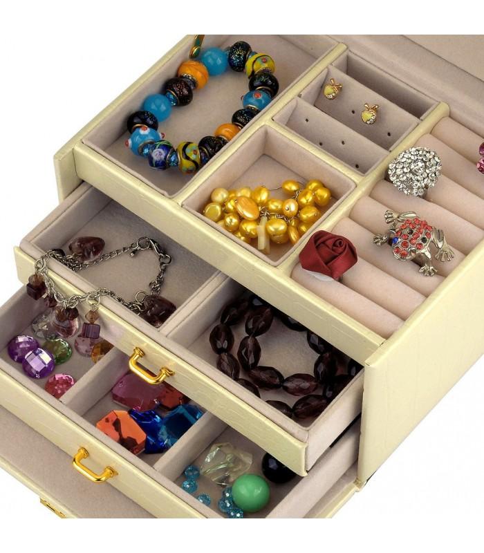 Кутия за бижута тип куфар - код 1756 - 11