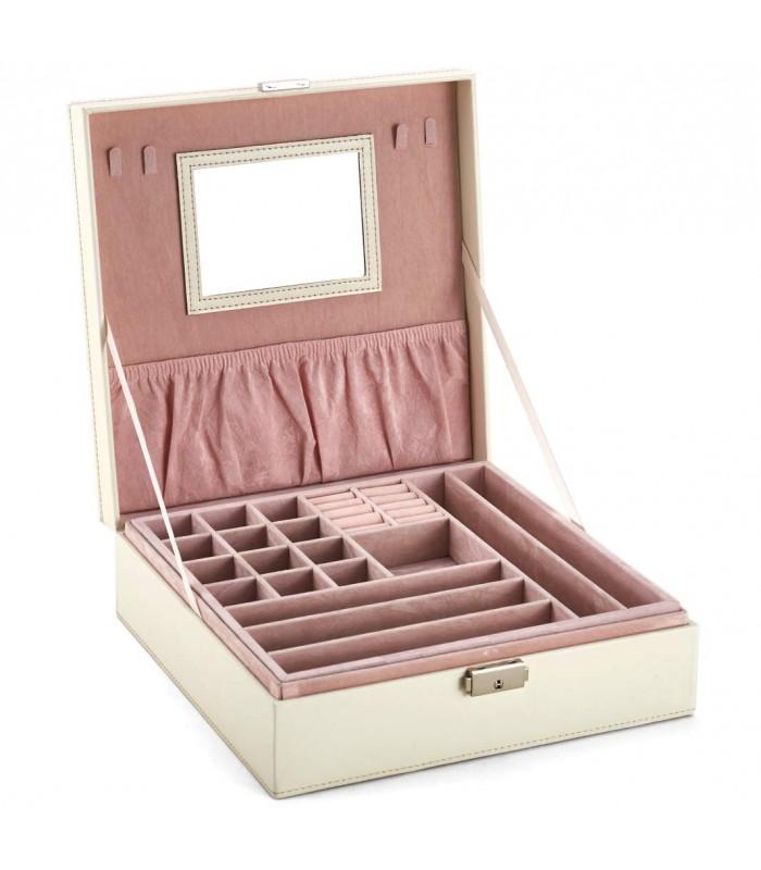 Кожена кутия за бижута с 2 нива - модел 2010 - 3