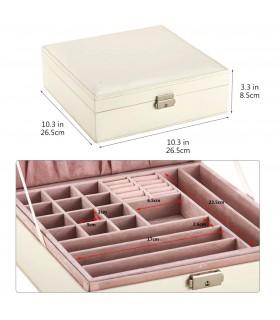 Кожена кутия за бижута с 2 нива - модел 2010 - 7