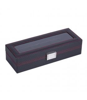 Карбонова кутия за часовници за 6 часовника - 4