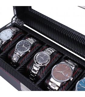 Карбонова кутия за часовници за 6 часовника - 2