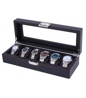 Карбонова кутия за часовници за 6 часовника - 1