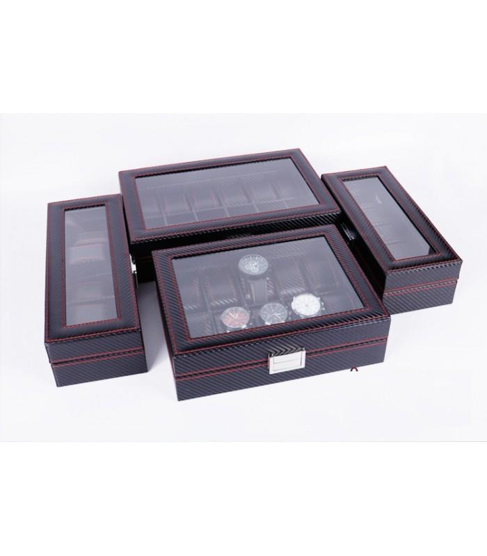 Карбонова кутия за часовници за 10 часовника - 6