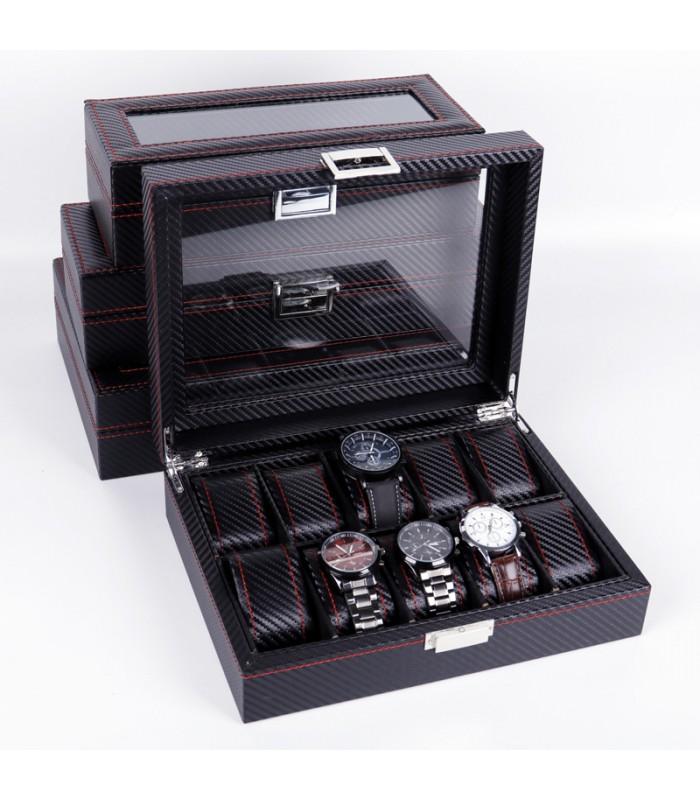 Карбонова кутия за часовници за 10 часовника - 1