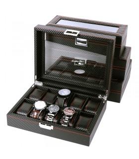 Карбонова кутия за часовници за 10 часовника - 5
