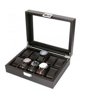 Карбонова кутия за часовници за 10 часовника - 2