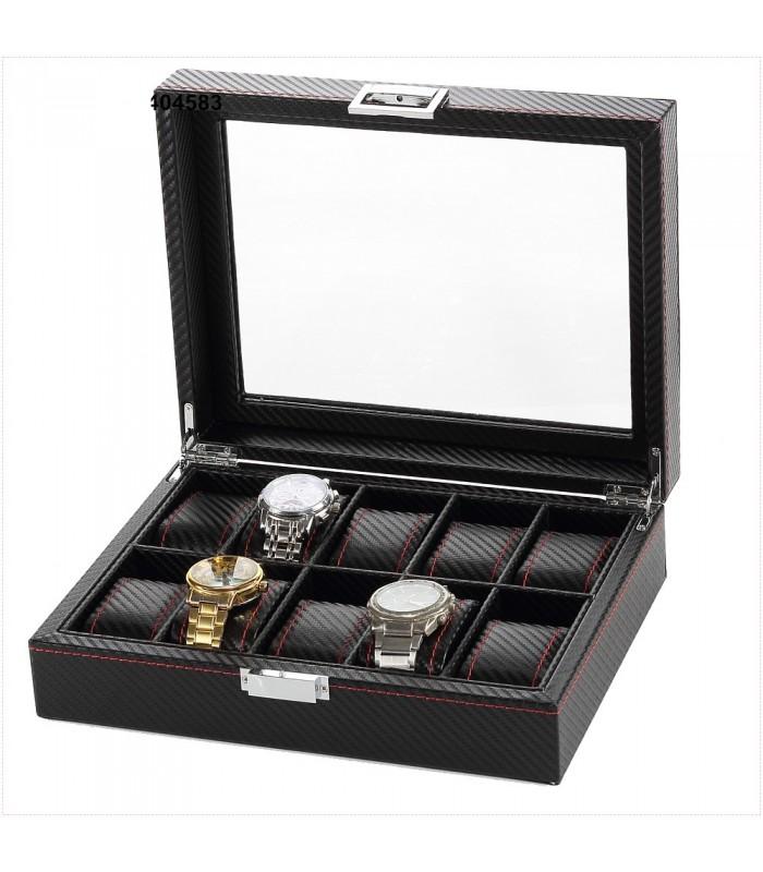 Карбонова кутия за часовници за 10 часовника - 7