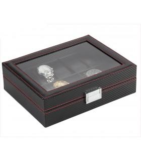 Карбонова кутия за часовници за 10 часовника - 4