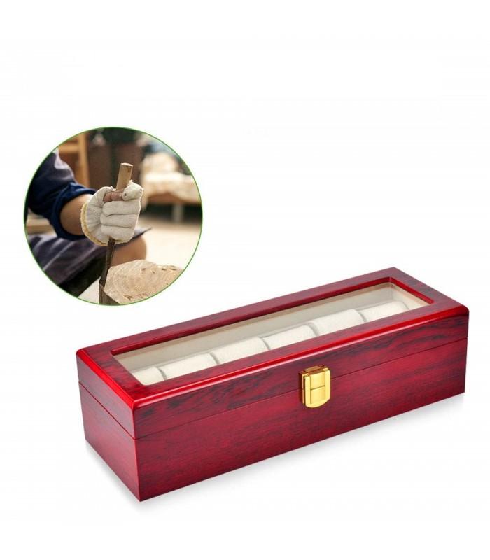 Дървена кутия за 6 часовника - 3