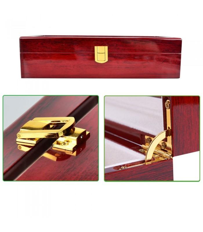 Дървена кутия за 6 часовника - 4
