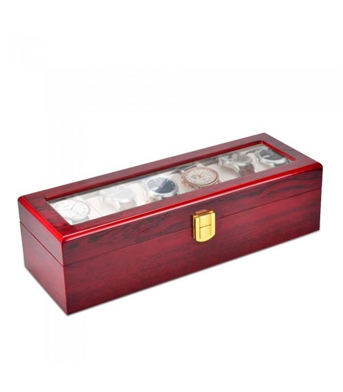Дървена кутия за 6 часовника - 6