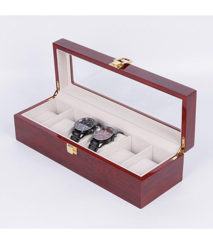 Дървена кутия за 6 часовника - 7
