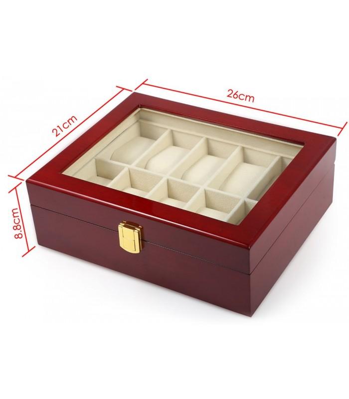 Дървена кутия за 10 часовника - 7