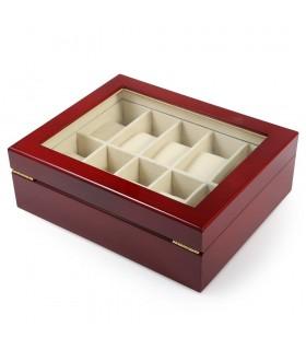 Дървена кутия за 10 часовника