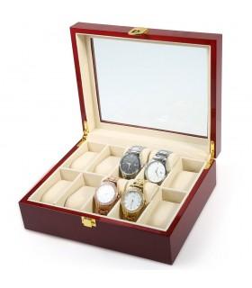 Дървена кутия за 10 часовника - 2
