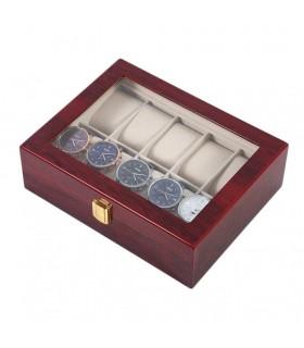 Дървена кутия за 10 часовника - 4