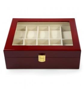 Дървена кутия за 10 часовника - 10