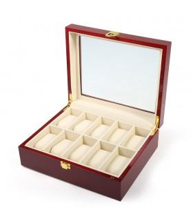Дървена кутия за 10 часовника - 11