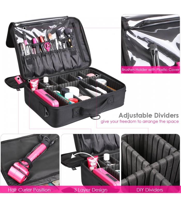 Професионален куфар-органайзер за козметика - 6