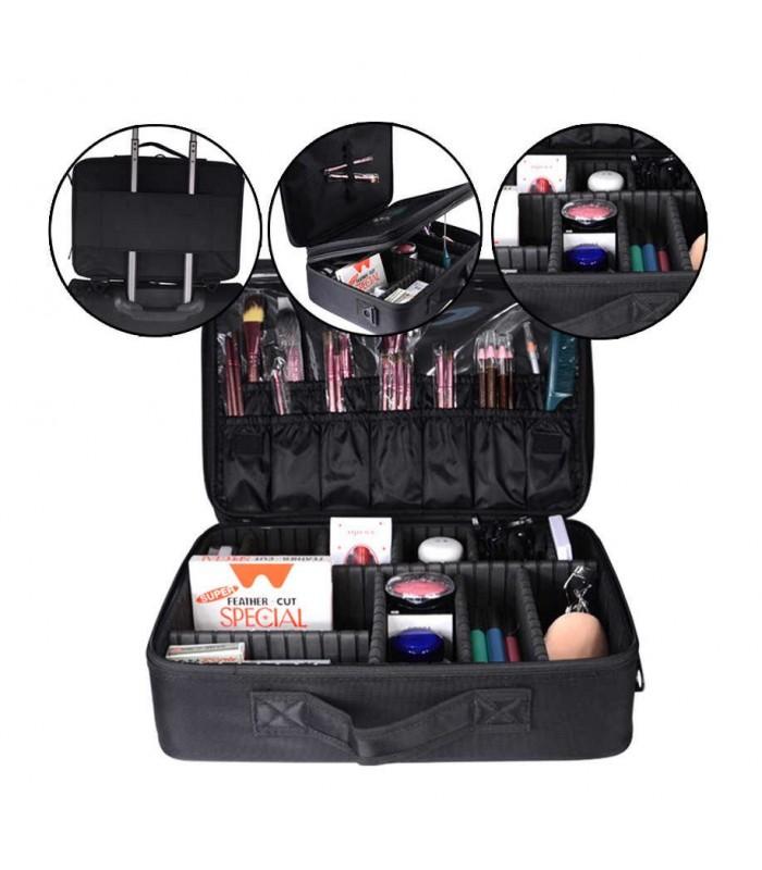 Професионален куфар-органайзер за козметика - 9