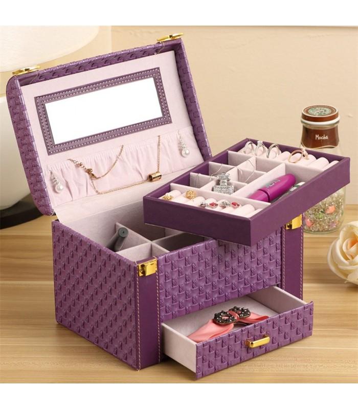 Куфар с дръжка за козметика - модел 1123 - 1
