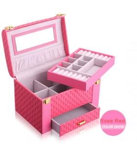 Куфар с дръжка за козметика - модел 1123 - 2