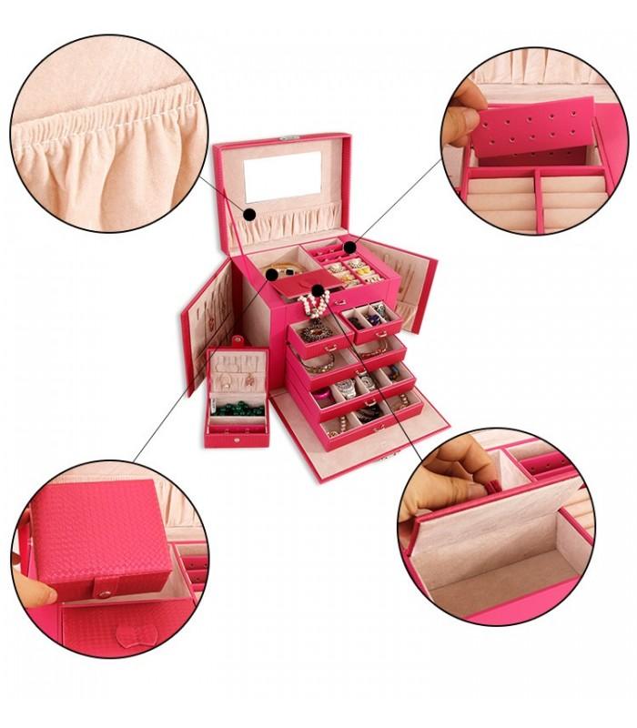 Куфарче за бижута с чекмеджета - модел 1119 - 5