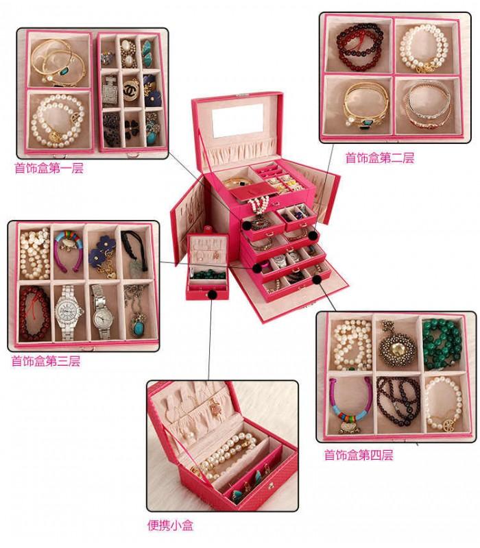 Куфарче за бижута с чекмеджета - модел 1119 - 4