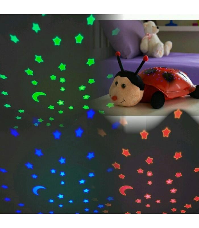 Детска нощна лампа калинка - 2