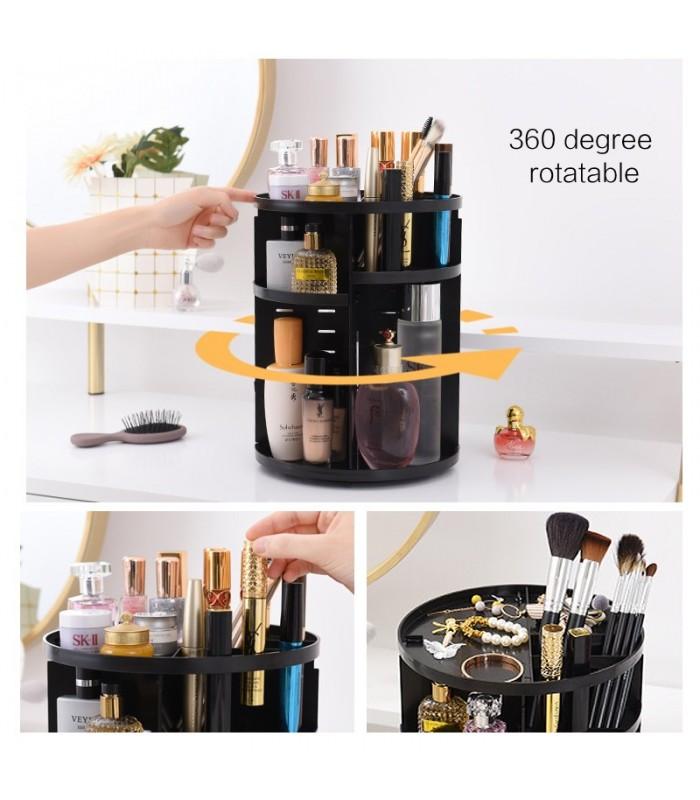 Практичен въртящ се на 360 градуса органайзер за козметика - 3