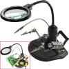 Настолна лампа с лупа, трета ръка и стойка за запояване - модел 802