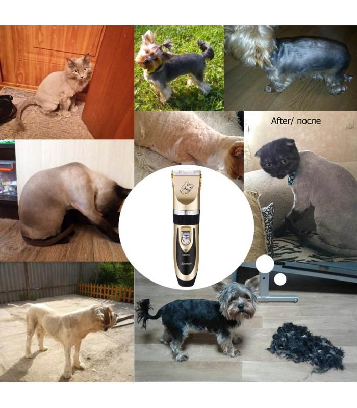 Безжична машинка за подстригване на кучета и котки - 5