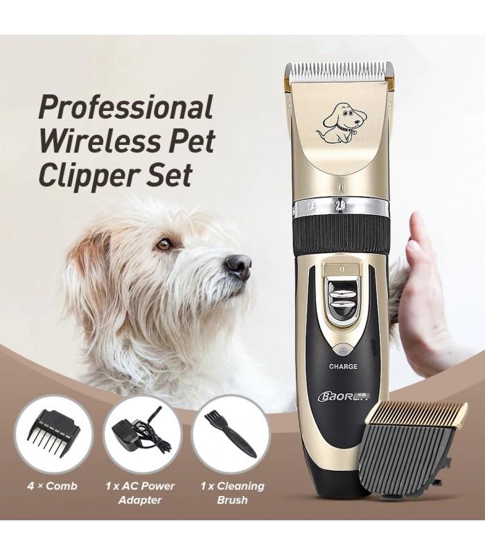 Безжична машинка за подстригване на кучета и котки - 10