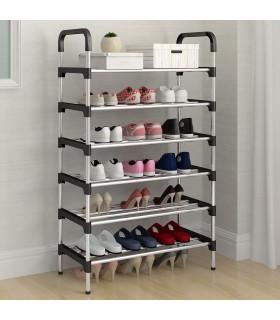 Метална етажерка за обувки на 6 нива - 1
