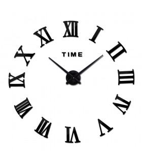 Стенен 3D часовник с римски цифри - 3