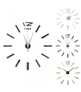 Самозалепващ 3D стена часовник - код 4203 - 8