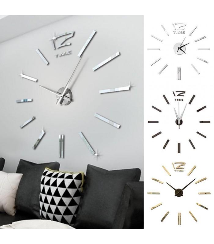 Самозалепващ 3D стена часовник - код 4203 - 1