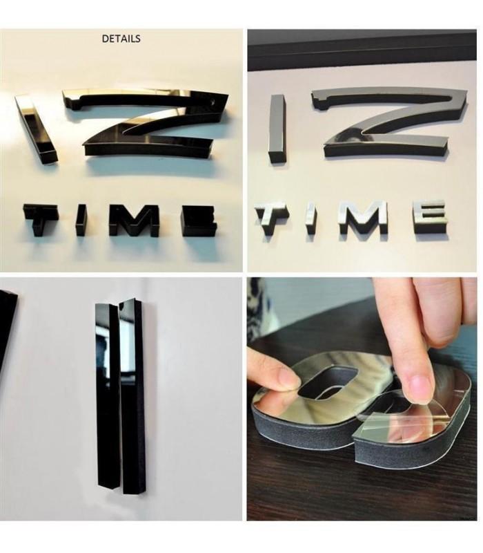 Самозалепващ 3D стена часовник - код 4203 - 7