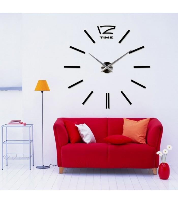 Самозалепващ 3D стена часовник - код 4203 - 12
